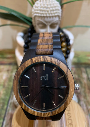 Daniel Collection (Ebony Wood/Zebra Wood) Watch