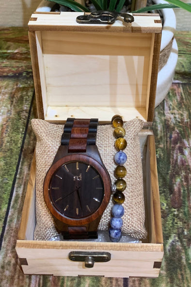 Daniel Collection (Ebony Wood/Rose Wood) Watch