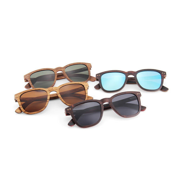 McLaren Collection Zebra Skateboard Wood Sunglasses