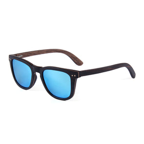 McLaren Collection Ebony Skateboard Wood Sunglasses with Blue Lens