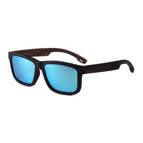 Maco Collection Ebony Wood Skateboard Sunglasses