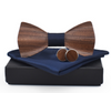 Wood Bow Tie Set (Blue)