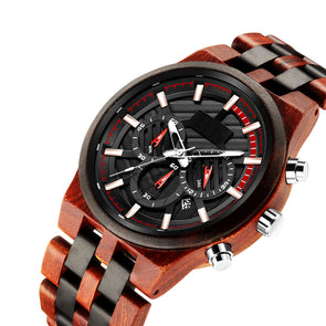 The Parker Collection (Chronograph Sandal Wood & Ebony Wood) Watch