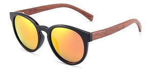 Elle Collection Rosewood Sunglasses with Red Mirror Lens