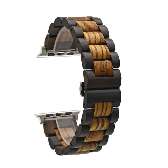 RD Zebra and Ebony Wood Apple Watch  Band