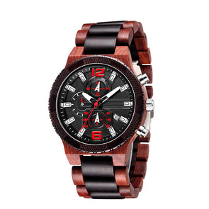The Garrick Collection (Chronograph Red Sandalwood and Ebony Wood) Watch