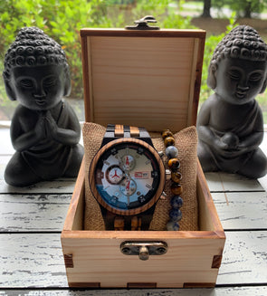 The Sequoia Collection (Chronograph Ebony and Zebra Wood) Watch
