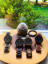 The Garrick Collection (Chronograph Zebra Wood and Ebony Wood) Watch