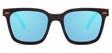 Keanu Vintage Hipsters Ebony Recycled Skateboard Wood Sunglasses