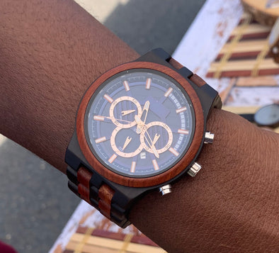 The Parker Collection (Chronograph Ebony Wood and Sandalwood) Watch