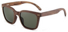 Keanu Vintage Hipsters Walnut Recycled Skateboard Wood Sunglasses
