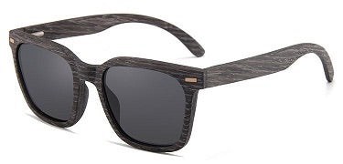 Keanu Vintage Hipsters Ebony & Maple Recycled Skateboard Wood Sunglasses