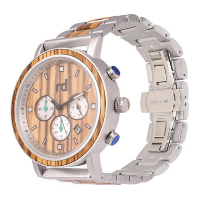 Regal Collection (Alloy and Wood Watch) Zebra wood