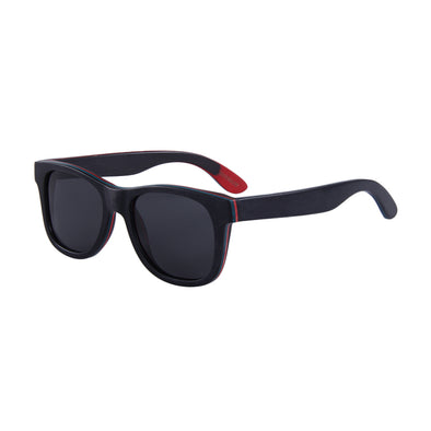 Gladiator BIG HEAD Black Recycled Skateboard Wood Sunglasses