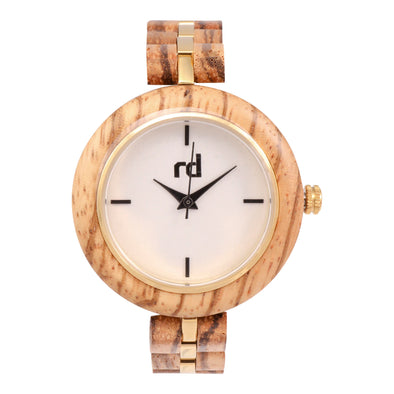 The Amber Collection (Ladies Zebra wood watch)