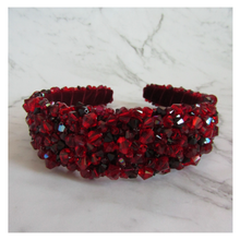 Aurelia Crystal Headband - Red