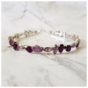 Jade - Purple Jewel Headband - Victoria Jane Millinery