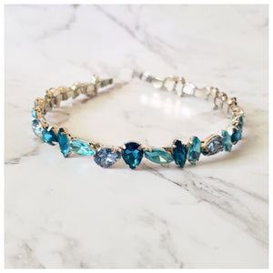 Jade - Blue Jewel Headband - Victoria Jane Millinery