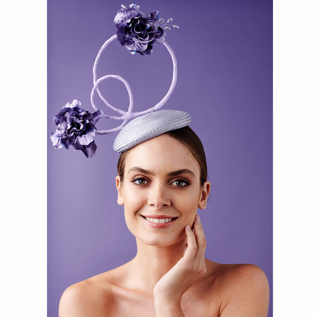 Nixie - Purple Fascinator