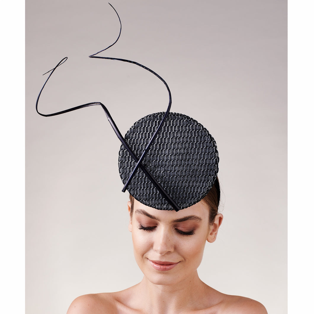 Calder 3D Percher - Black and Silver - Victoria Jane Millinery