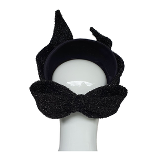 Coco - Black Velvet Headpiece