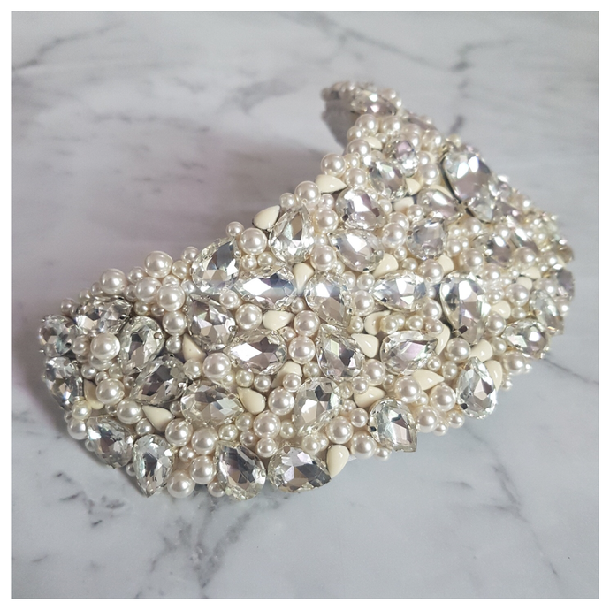 Aria Crystal and Pearl Headpiece