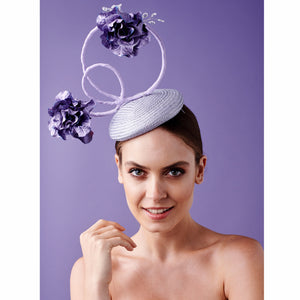 Nixie - Purple Fascinator - Victoria Jane Millinery