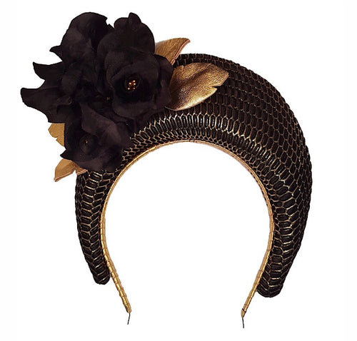 Blossom Crown - Black and Gold