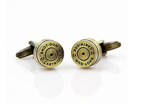 Fashion Trendy Men's French Shirts Bronze Bullet Cufflinks Cuff links Cuff lings Cuff Buttons Cufflinks For Men's and Women's / AZCFMI004-ABZ