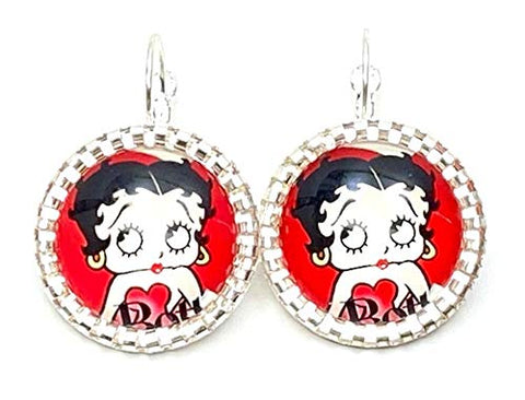 Trendy Fashion Classic Character Betty Boop Earrings For Women /