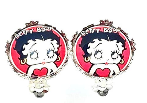 Trendy Fashion Handmade Classic Character Betty Boop Clip-On Earrings For Women /