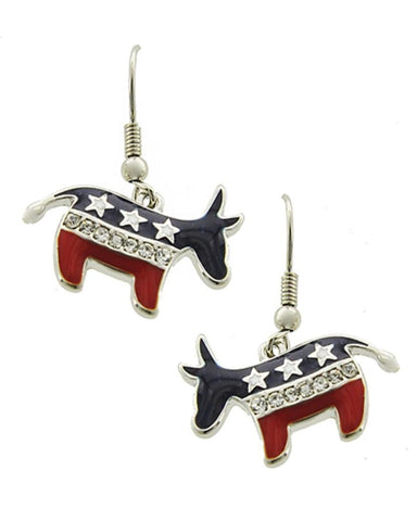 Arras Creations Patriotic American Flag Independence Day Dangle Earrings for Women / AZERPT518-SRB