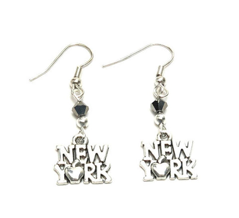 Trendy Fashion State of New York Earrings For Women / AZAENY001-ASL