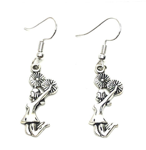 Sports Fashion Trendy Cheer Leading Charm Metal Dangling Earrings For Women's or Girls / AZAESPD11-ASL