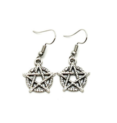 Fashion Trendy but delicate ANTIQUE STAR OF DAVID EARRINGS For women. / AZAESD001-ASL