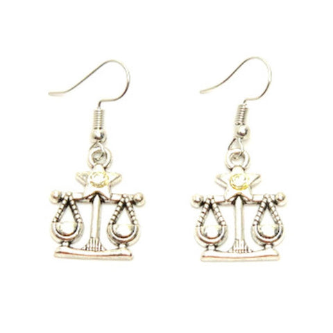Fashion Trendy Libra - Zodiac Sign Dangle Earrings For Women / AZAZLI002-ASC