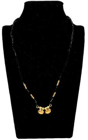 Arras Creations Designer Imitation Traditional Vati Mangalsutra Necklace for Women / AZMNVM010-GLD