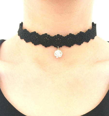 Arras Creations Fashion Gothic Victorian Lace Collar Necklace for Women / AZFJCKA04