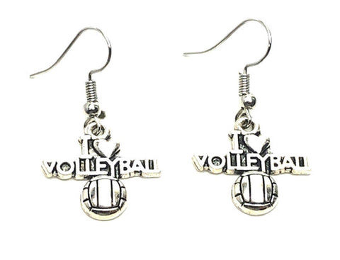 SPORTS Earring : Fashion Volleyball Dangle Sports Earrings For Women / AZAESP721-ASC