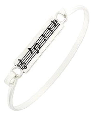 Music Note Hook Cuff Closure Bracelet / AZBBMU887-ASL
