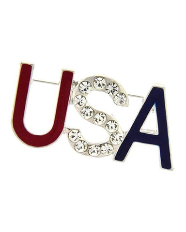 Independence Day / USA Patriotic - Brooch/pin / AZFJBR041-SMU-PAT