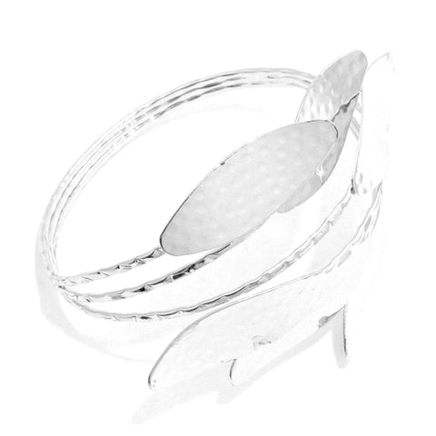 Fashion Metal Leaf Upper Arm Cuff Bracelet ArmBand for Women
