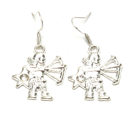 Fashion Trendy Sagittarius - Zodiac Sign Dangle Earrings For Women / AZAZSG001-SCL