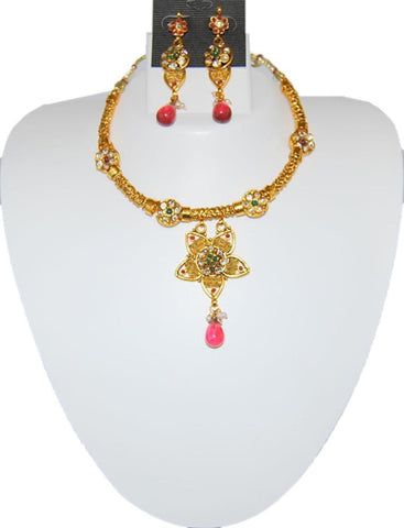 Designer Imitation Polki Necklace Set for Women