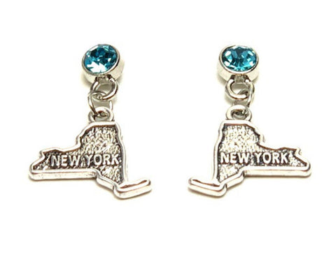 Trendy Fashion State of New York Earrings For Women / AZAENY201-ASB