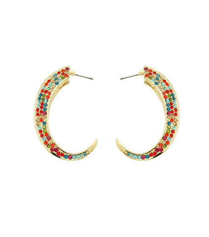 Multi Gold Curve Earrings / AZERFH227-GMU