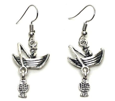 SPORTS Earring : Fashion Fishing Dangle Earrings For Women / AZAESPG11-ASL