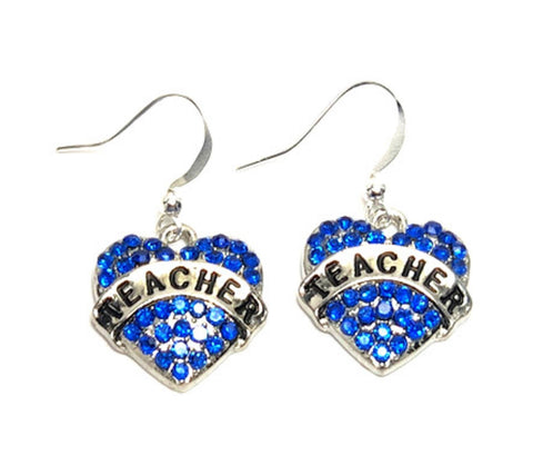 "Fashion Trendy Teacher - Teacher's Day Love""Teacher"" Earrings For Women / AZAEVH003-BTE"