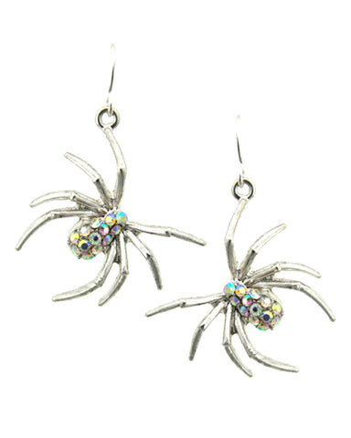 Fashion Halloween Spider Dangle Fish Hook Earrings For Women / AZERHE967-SAB