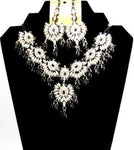 Fashion Trendy Bollywood Style Indian Imitation Necklace Set For Women / AZBWBR001-BLK